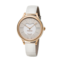 FLIRT 36MM 18K OR ROSE - BLANC