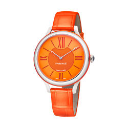 FLIRT 36MM 18K WHITE GOLD - ORANGE DIAL