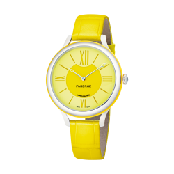 FLIRT 36MM 18K WHITE GOLD - YELLOW DIAL